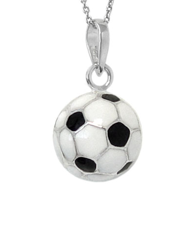 Wholesale silver jewelry epoxy soccer ball 925 sterling silver soccer ball 925 sterling silver pendant mozeypictures Image collections