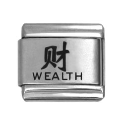 Wealth laser Italian charms