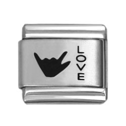 love sign laser charms