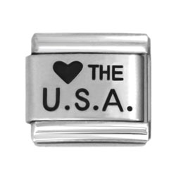 Love USA laser charms