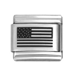 US flag laser charms
