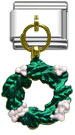 Dangle Christmas wreath charms