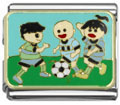 Playing soccer Italian charms
