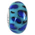 blue leopard skin design glass bead jewelry