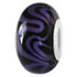 purple line glass bead jewelry