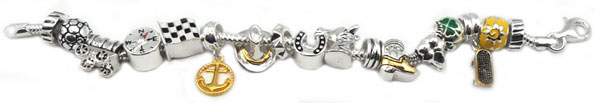 silver charms for Pandora jewelry
