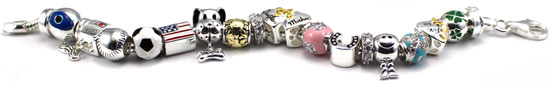 wholesale silver beads and charms for Pandora bracelets and Murano bead jewelry