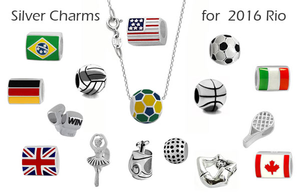 wholesale silver charms for Italian bead jewelry