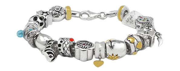 wholesale silver charm bracelet jewelry