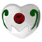 Heart birthstone charms for Pandora bead jewelry