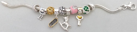 wholesale silver bead jewelry