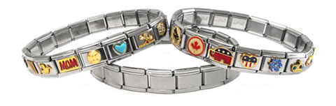 wholesale stainless steel Italian charms and bracelets