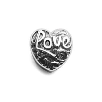 Love 925 sterling silver charm bead jewelry