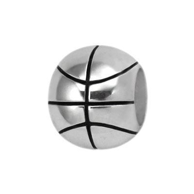 silver basketball bead jewelry