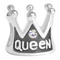 crown silver beads for Modular bead jewelry