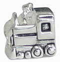 silver train for Pandora bead jewelry