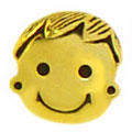 gold plated boy sterling silver beads for pandora jewelry