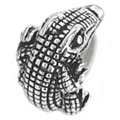 Alligator silver bead jewelry