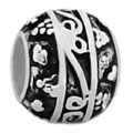 Gothic design sterling silver bead