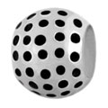 silver golf ball for European modular bracelets