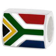 South Africa flag silver bead Pandora jewelry