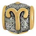Aries silver zodiac beads for Pandora jewelry wholesale