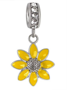 e03bbfa41 Wholesale sterling silver sunflower charm for Italian bead jewelry