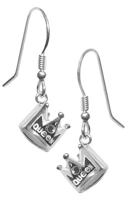 silver jewelry crown earrings