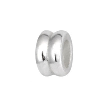 silver bead jewelry spacers