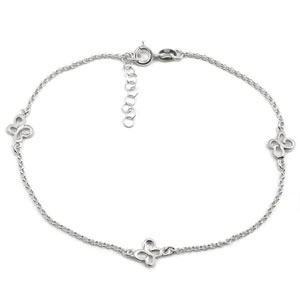 8101 silver butterfly anklet chains