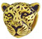 leopard face 925 sterling silver bead jewelry