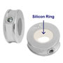 sterling silver bead stoppers for European bead jewelry