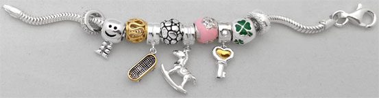 wholesale silver charms for Pandora bead jewelry