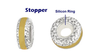 wholesale silver bead stoppers for Pandora jewelry